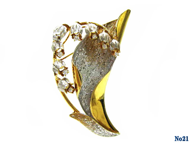 brooch diamond K18